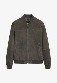 Mango - CAPE - Veste en cuir - dark gray mottled - 4