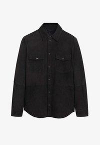 Mango - HARARE - Veste en cuir - black - 6