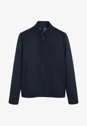 SIENA - Faux leather jacket - dunkles marineblau