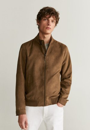 SIENA - Faux leather jacket - mittelbraun
