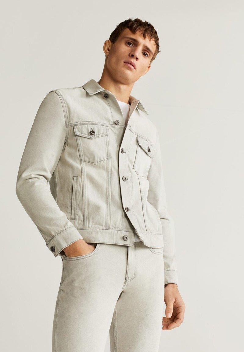 Mango - RYAN6 - Denim jacket - denim hellgrau