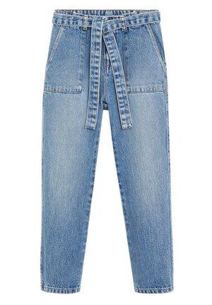 BAGGY - Jean slim - mellemblå