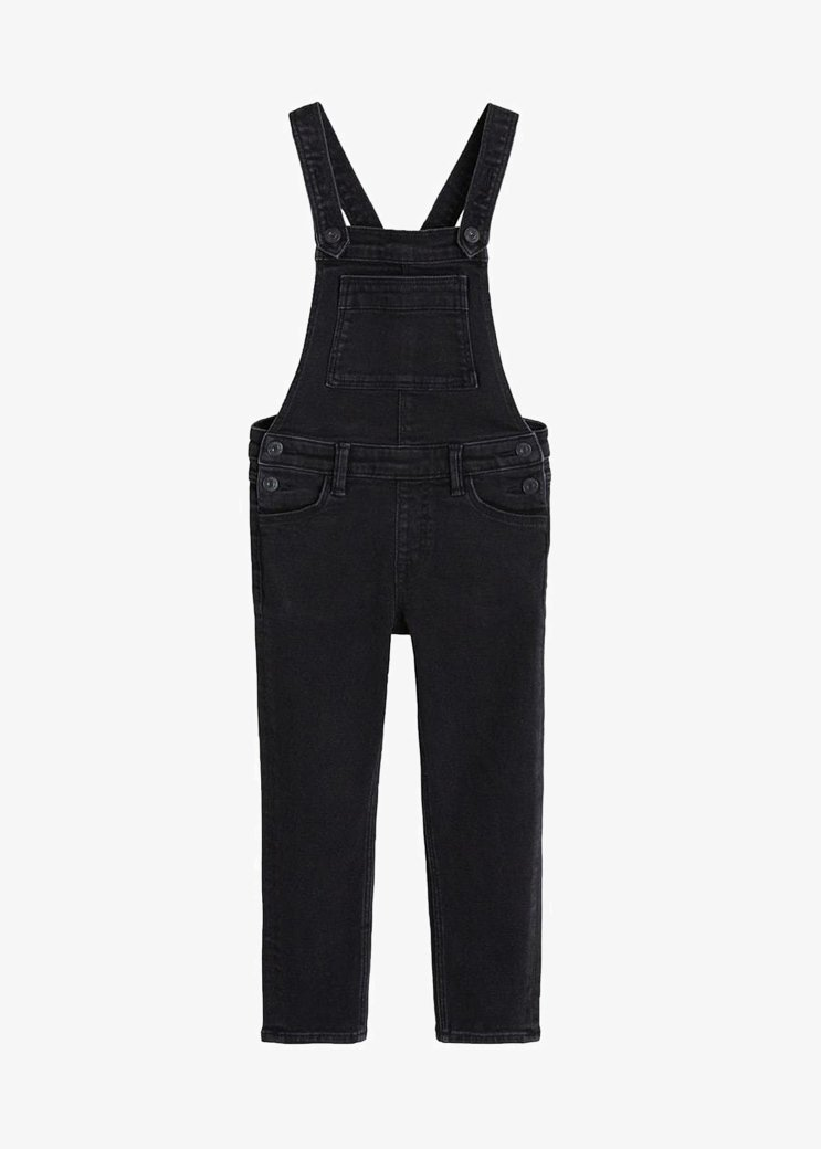 Mango - AMARA - Dungarees - black denim