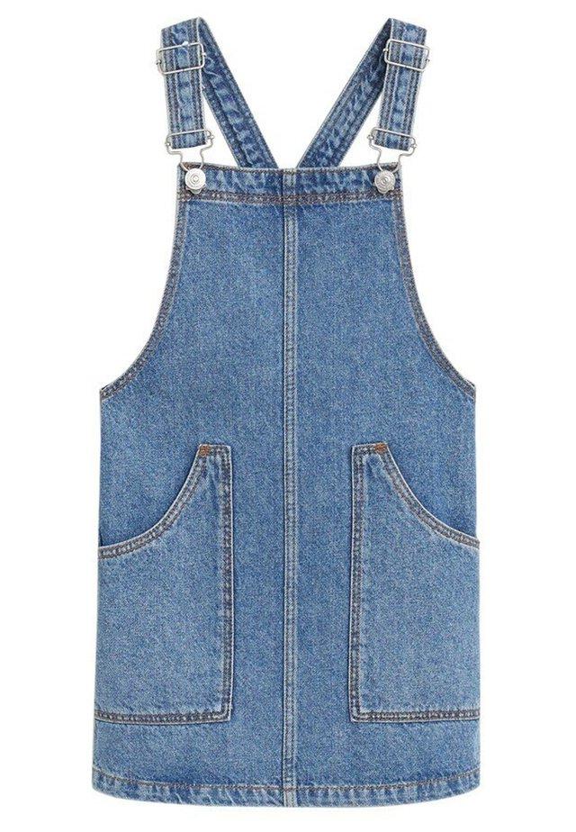 JEANS-LATZROCK MIT TASCHEN - Vestito di jeans - dunkelblau