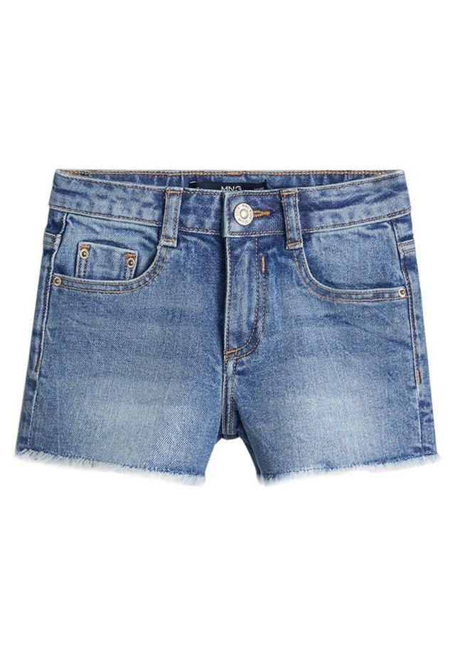 ISABEL - Shorts di jeans - mittelblau