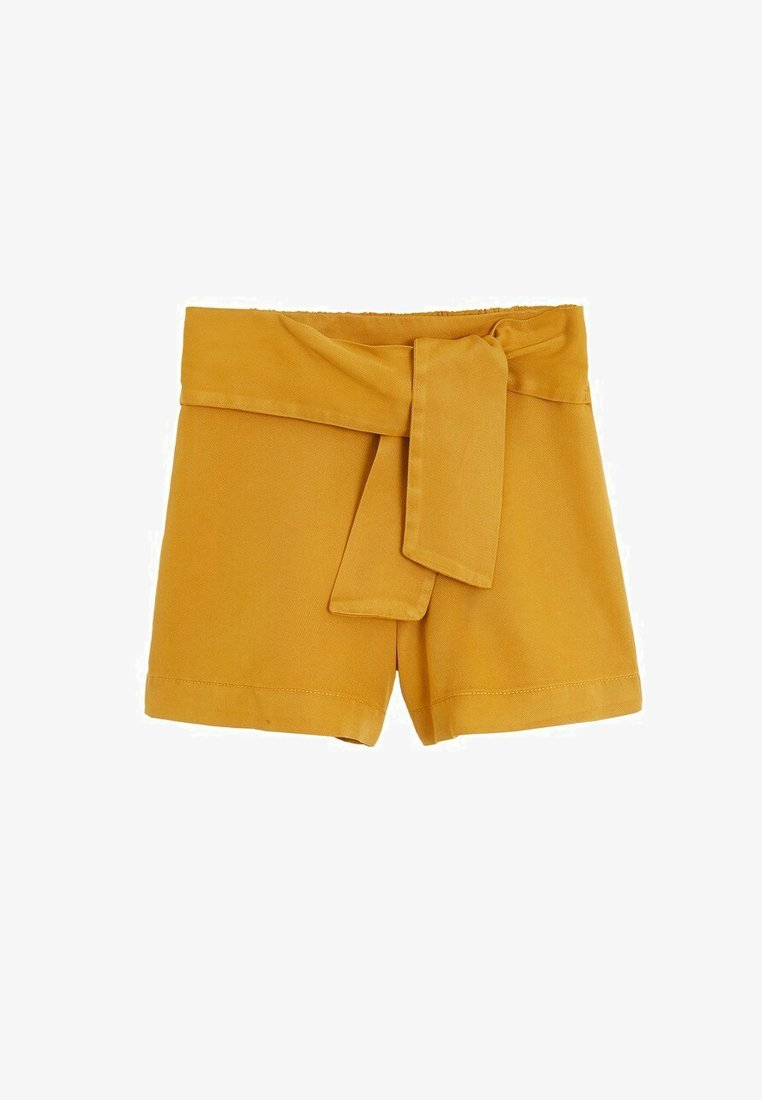 Mango - LINE - Shorts - senfgelb