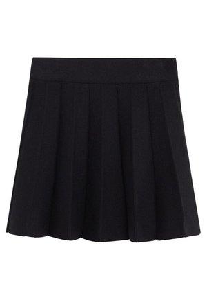FALTENROCK - A-line skirt - schwarz