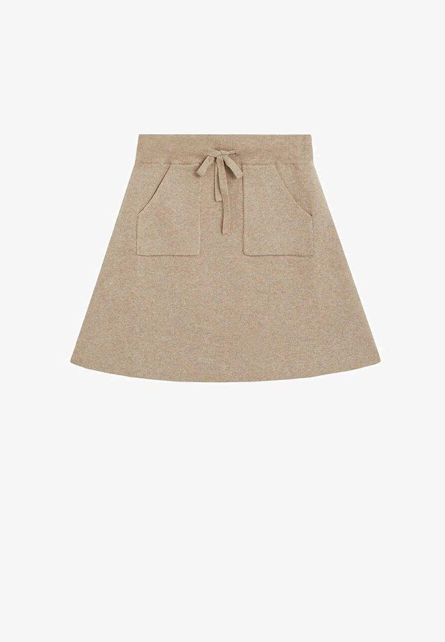 A-snit nederdel/ A-formede nederdele - light brown melange