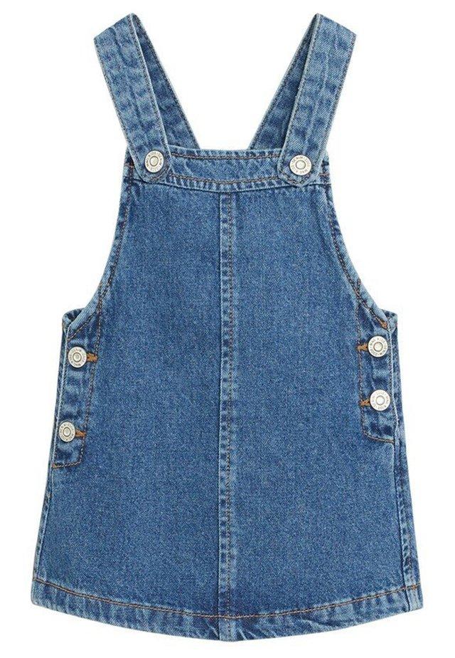 JEANS-LATZKLEID - Vestito di jeans - mittelblau