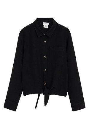 LAZO - Button-down blouse - schwarz