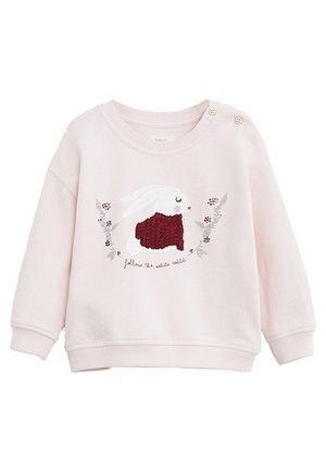 BAUMWOLL-SWEATSHIRT MIT STICKDETAIL - Sweatshirt - rosa