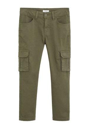 CARGOBUKSER I BOMULD - Cargo trousers - kaki