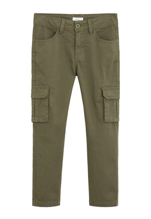 CARGOBUKSER I BOMULD - Pantalon cargo - kaki