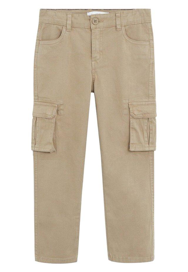 SEBAS - Pantalon cargo - sand