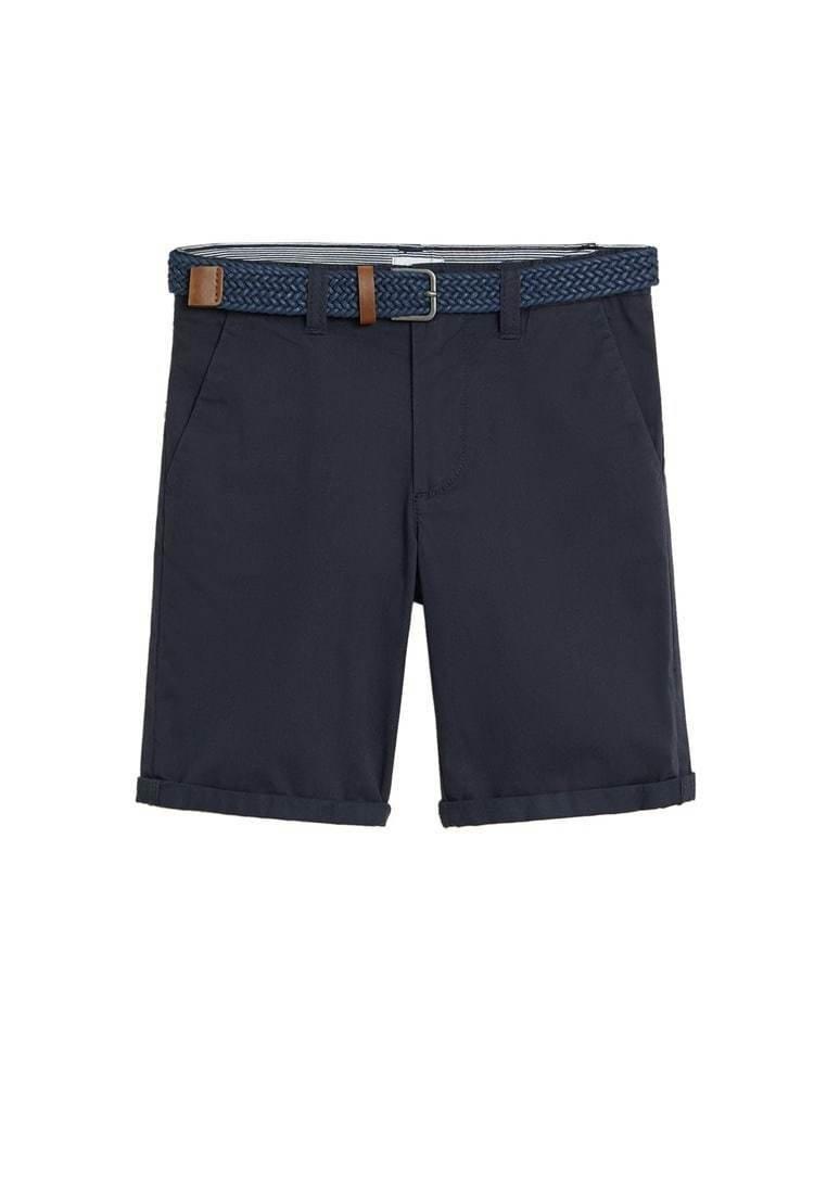 Mango - Shorts - marineblå