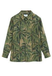 Mango - BAUMWOLLHEMD MIT HAWAII-PRINT - Skjorta - khaki - 0