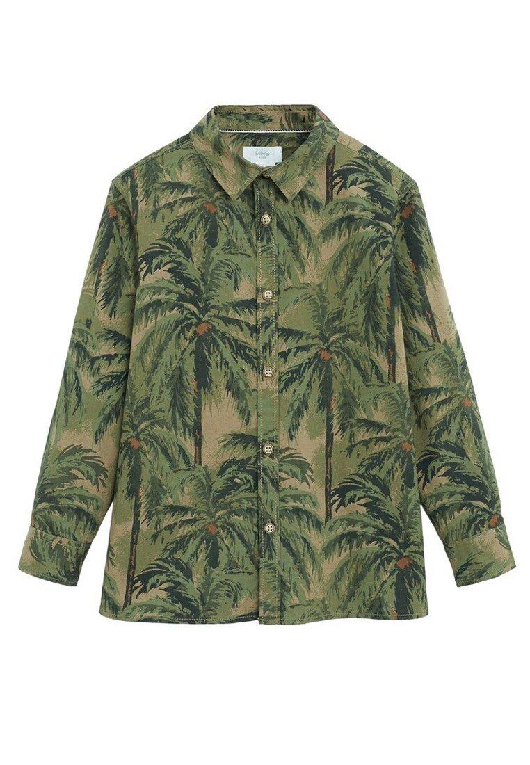 Mango - BAUMWOLLHEMD MIT HAWAII-PRINT - Koszula - khaki