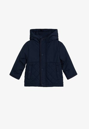 STEPPJACKE MIT KAPUZE - Winter jacket - dunkles marineblau