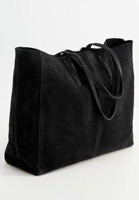 Mango - ARRIBES - Shopping Bag - black - 1