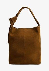 Mango - ARLANZA - Shopping Bag - medium brown - 0