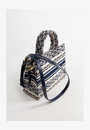 GEBORDUURDE MINITAS - Handbag - blauw