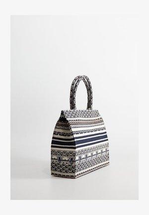 SHOPPER-BAG MIT STICKEREIEN - Torba na zakupy - blau