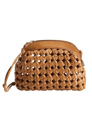 SANDRA - Clutch - medium brown