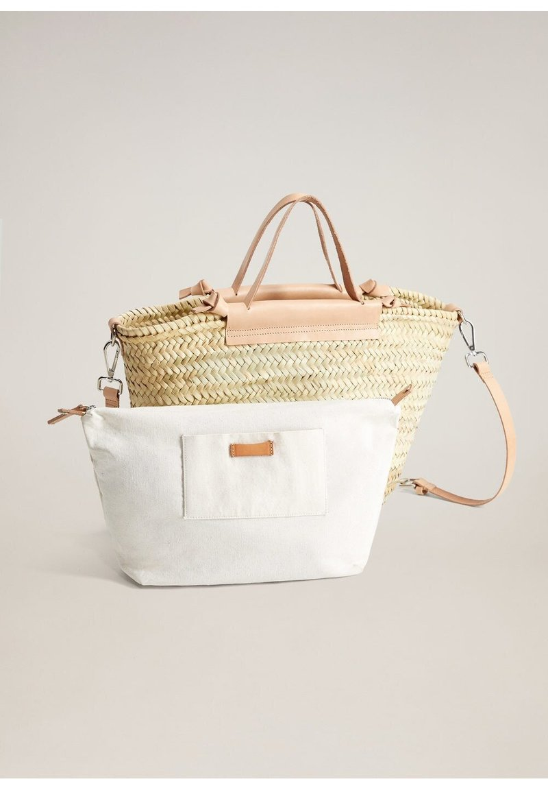 Mango - IBIZA - Shopping Bag - nude