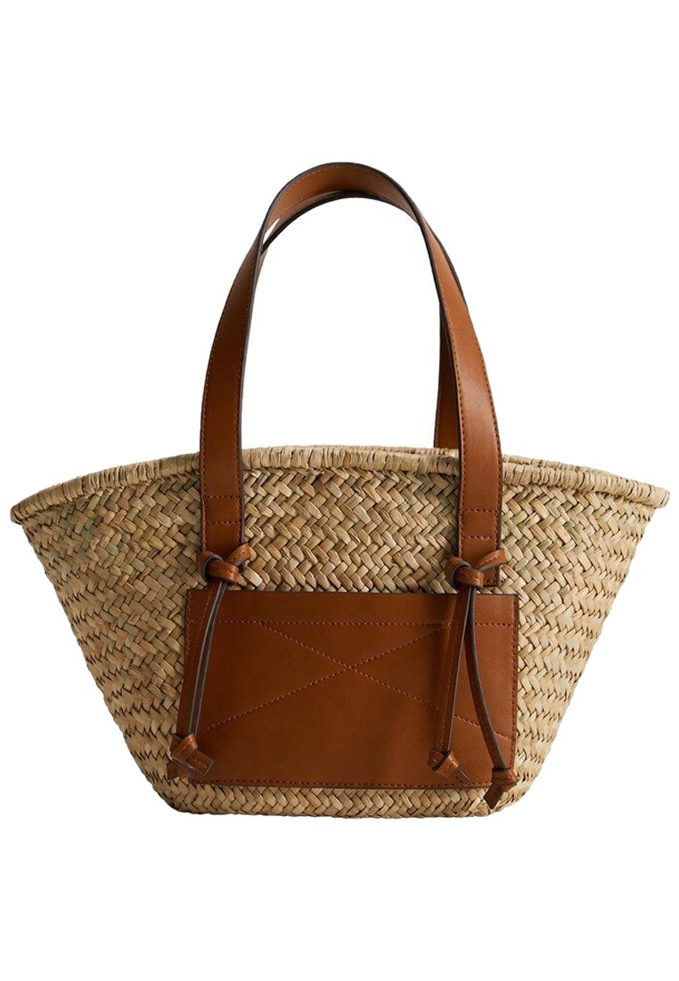 Mango - TOSCANA - Shopping bag - middenbruin