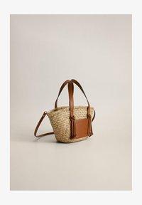 Mango - TOSCANA - Bolso shopping - middenbruin - 1