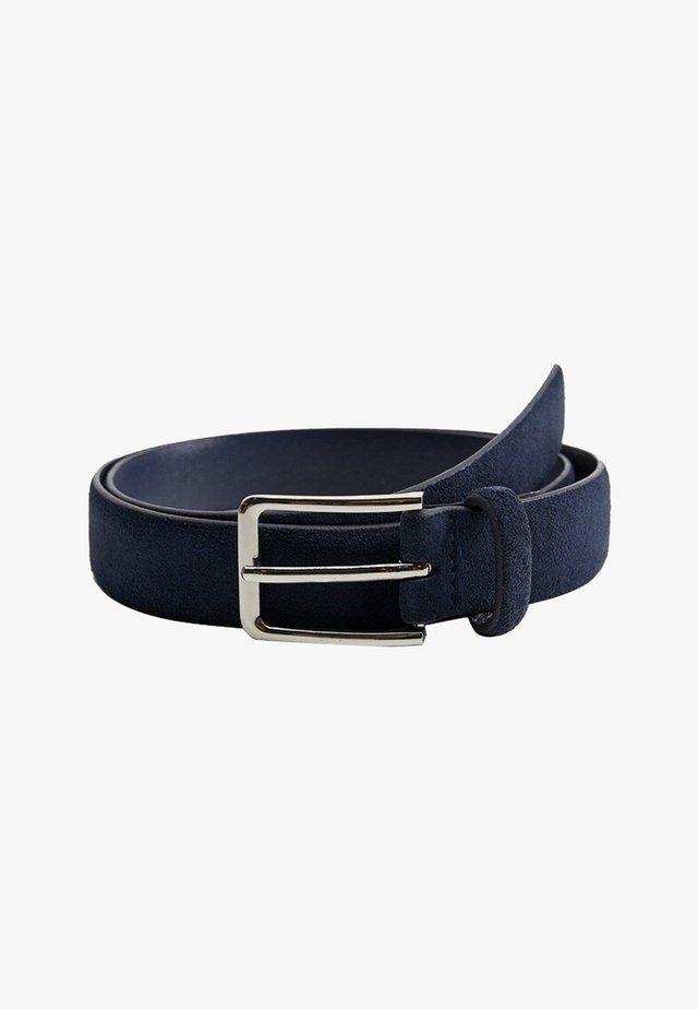 SUEDE - Belt - blue