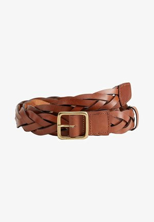 BRAID - Ceinture tressée - brown