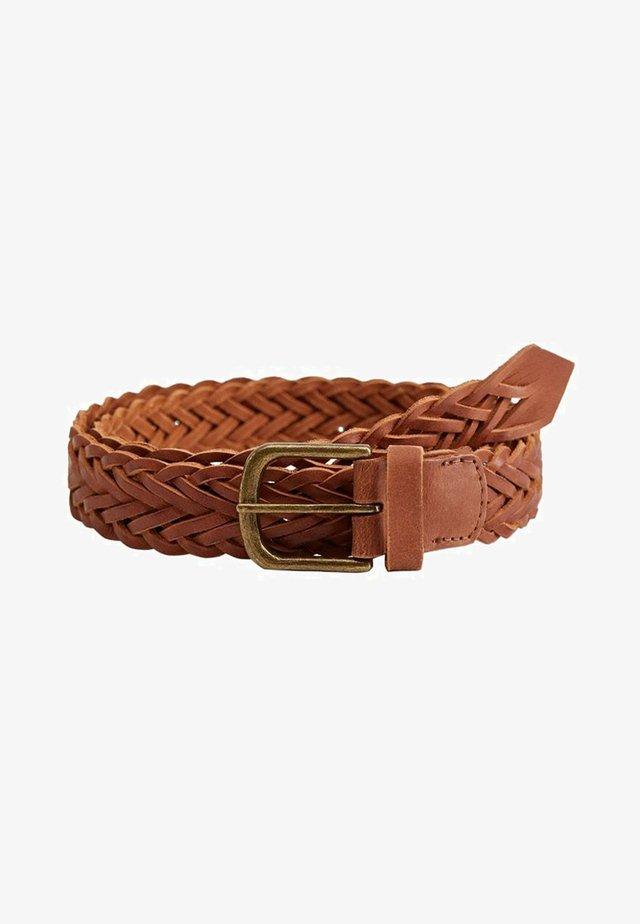 WOVEN - Braided belt - brown