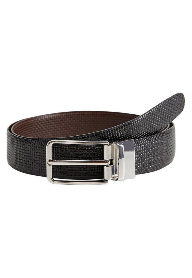 WENDBARER LEDERGÜRTEL - Belt - schwarz
