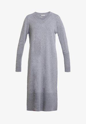 Gebreide jurk - gravel grey