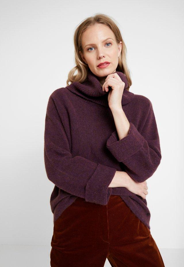 SCHALKRAGEN - Stickad tröja - mulberry sorbet