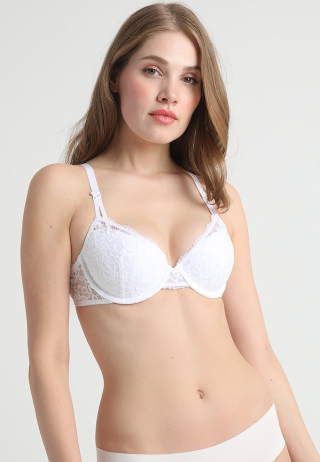 LIGHTLY LINED DEMI MODERN BEAUTY - Underwired bra - white