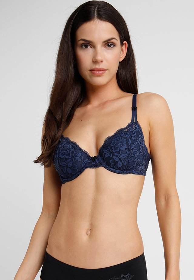 LIGHTLY LINED DEMI MODERN BEAUTY - Podprsenka s kosticemi - navy