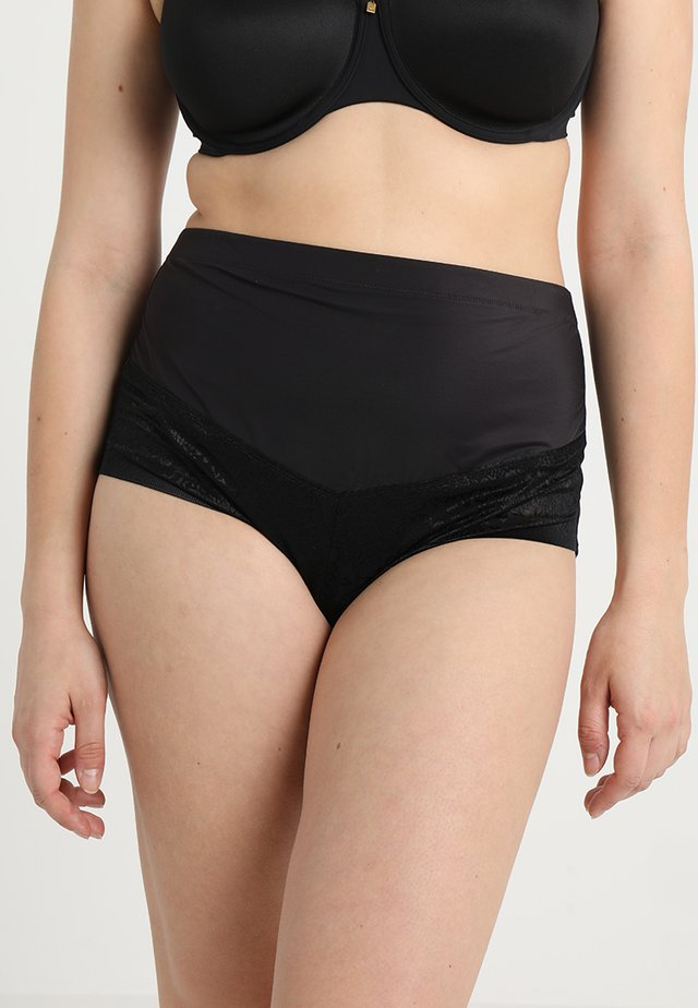 CURVY FIRM FOUNDATIONS AT WAIST BRIEF - Stahovací prádlo - black