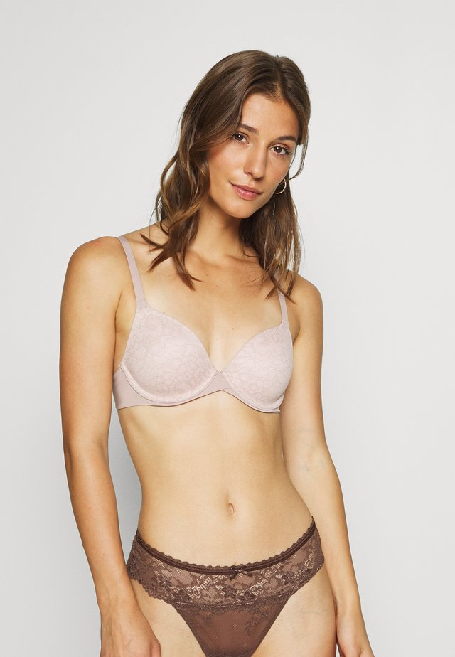 TAILORED OR EMBELISHED DEMI BRA - Underwired bra - evening blush/sand shell