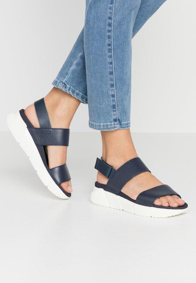 SPORTY  - Korkeakorkoiset sandaalit - navy