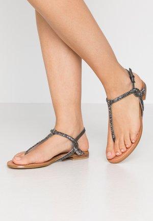BABSI  - T-bar sandals - grey/silver