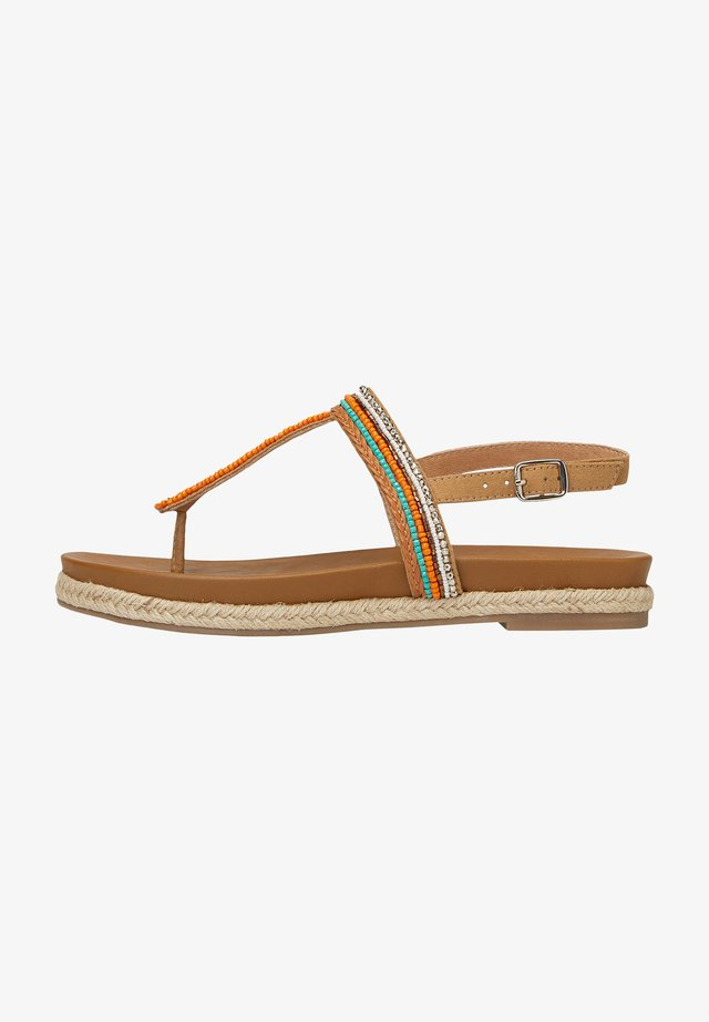 MIT EXKLUSIVER PERLEN-STICKEREI - T-bar sandals - multicolor