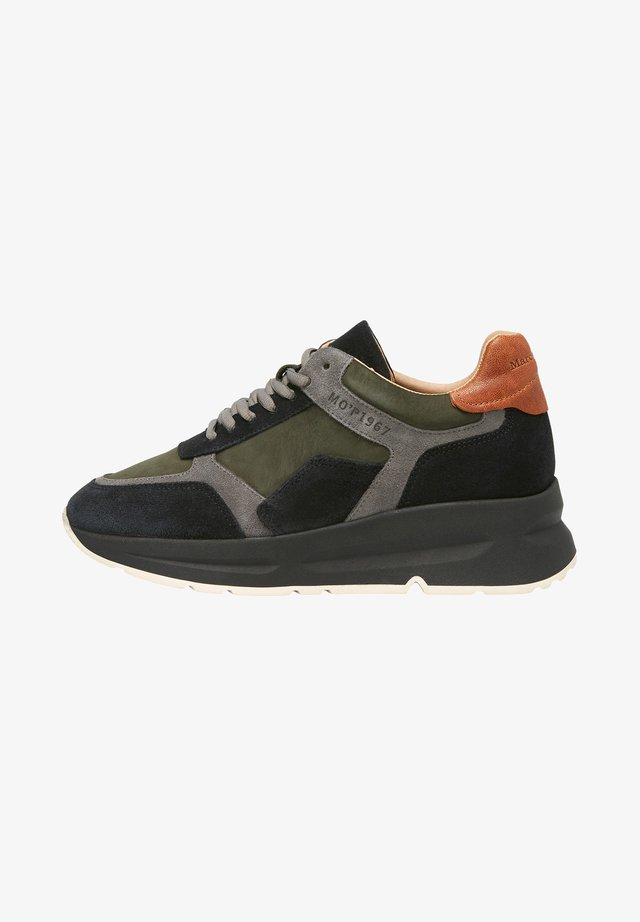 AUS HOCHWERTIGEM MATERIAL-MIX - Sneakersy niskie - oliv multi