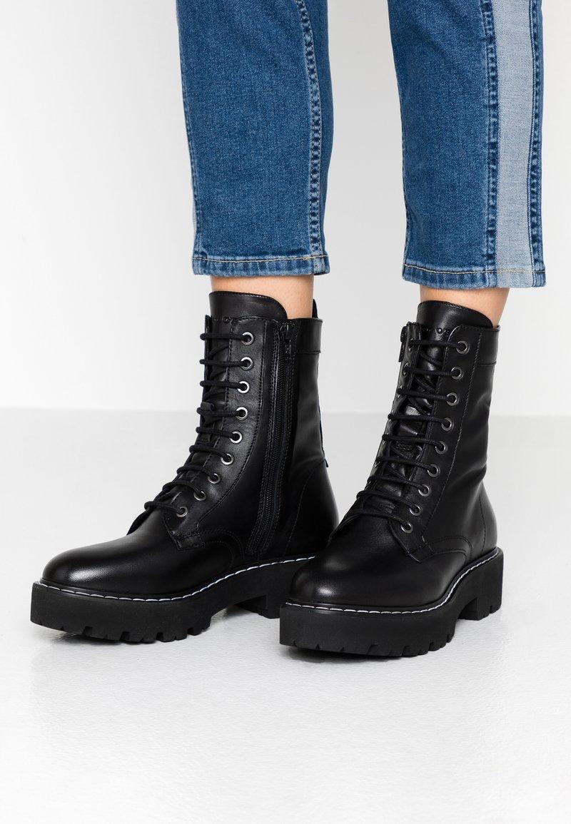 Marc O'Polo - Platform ankle boots - black