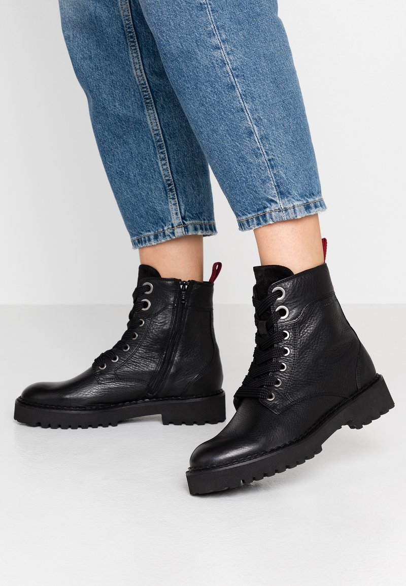 Marc O'Polo - Lace-up ankle boots - black