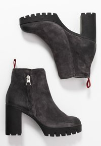 Marc O'Polo - High heeled ankle boots - dark grey - 3