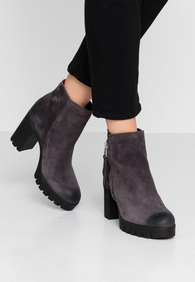 Marc O'Polo - High heeled ankle boots - dark grey