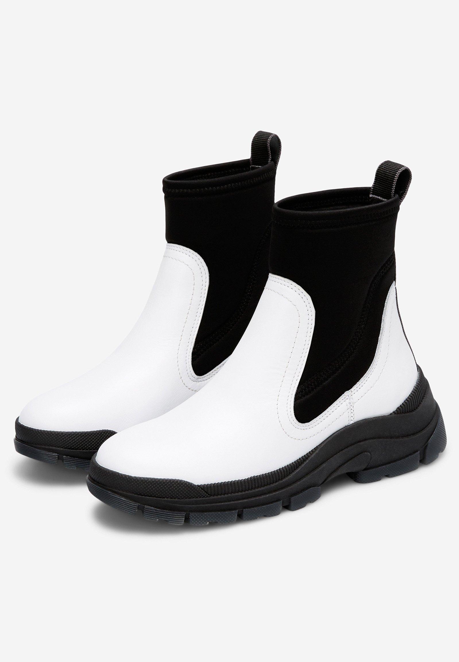 Marc O'Polo AUS RINDLEDER-NEOPREN-MIX - Ankle Boot - white BoNWGW