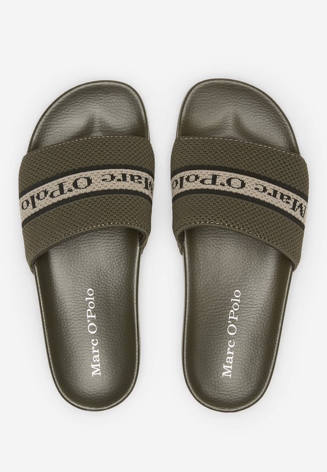 Pool slides - khaki